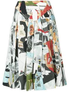 расклешенная юбка миди  Moschino