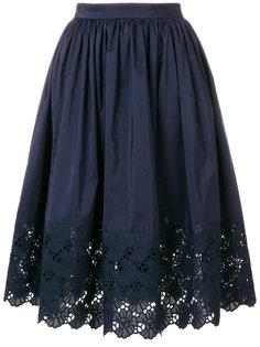 юбка с вышивкой  Lanvin