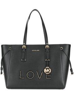 средняя сумка-тоут Voyager Love Michael Michael Kors