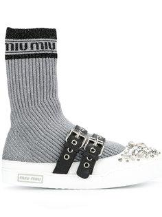 кроссовки с носочными вставками Miu Miu