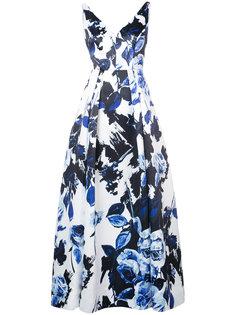 платье с цветочным рисунком Aidan Mattox