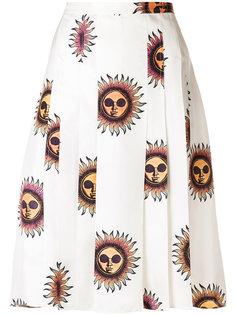 плиссированная юбка с принтом Sun Paul Smith