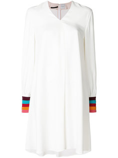 платье шифт с радужными манжетами  Paul Smith