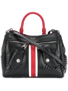 сумка на плечо с полоской Web Moschino