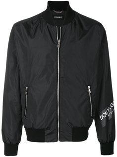 куртка-бомбер с логотипом Dolce & Gabbana