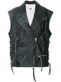 байкерская куртка без рукавов  Mm6 Maison Margiela