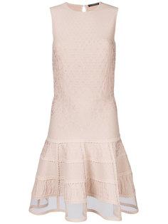 трикотажное платье мини без рукавов  Alexander McQueen