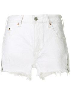 джинсовые шорты с бахромой Levis
