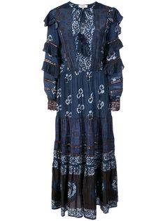 длинное платье в стиле тай-дай с цветочным рисунком Sea