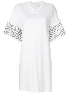 платье-футболка с оборками на рукавах  See By Chloé