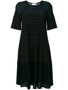 расклешенное платье в рубчик  Sonia Rykiel