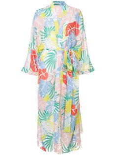 пляжное платье с тропическим рисунком Patbo