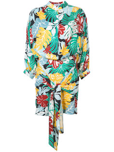 платье с тропическим рисунком и драпировками Patbo