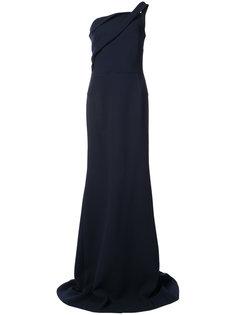 вечернее платье с драпировками на лифе Roland Mouret