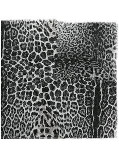 платок с анималистическим принтом Saint Laurent