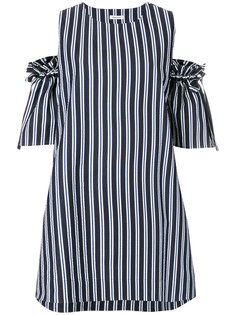 платье в полоску с открытыми плечами  P.A.R.O.S.H.