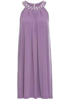 Платье отделанное стразами (лиловый матовый) Bonprix