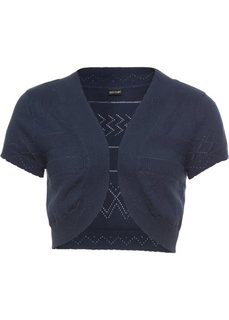 Вязаное болеро (темно-синий) Bonprix