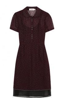 Приталенное мини-платье с коротким рукавом Coach