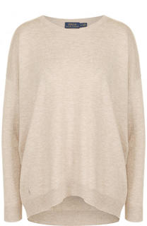 Вязаный пуловер свободного кроя с принтом Polo Ralph Lauren