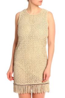 Платье кожаное Salvatore Ferragamo