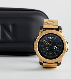 Золотистые наручные смарт-часы Nixon Mission SS - Золотой