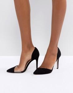 Туфли на высоком каблуке с острым носком Miss KG - Черный
