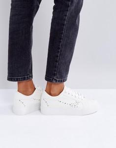 Женские кроссовки с заклепками Park Lane - Белый