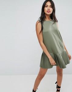 Платье мини с плиссированным подолом ASOS - Мульти