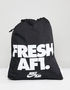 Черная сумка на шнурке Nike Air Force 1 BA5430-014 - Черный