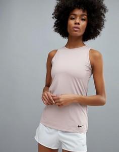 Майка с вырезом Nike Training - Розовый