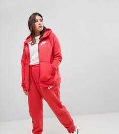 Красные спортивные штаны с манжетами Nike Plus Rally - Красный