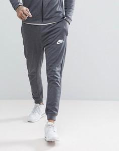 Серые выбеленные джоггеры с принтом Nike AV15 861746-071 - Серый