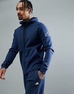 Худи темно-синего цвета на молнии adidas Athletics Stadium CG2089 - Темно-синий