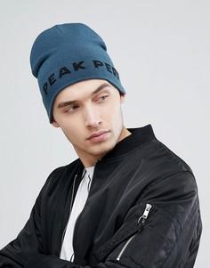 Синяя шапка-бини с логотипом Peak Performance PP - Синий