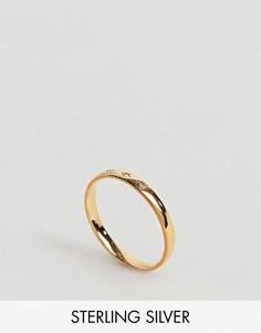 Кольцо с отделкой в виде звезд и бриллиантами Carrie Elizabeth - Золотой