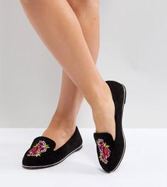 Туфли на плоской подошве для широкой стопы ASOS VITAL - Черный