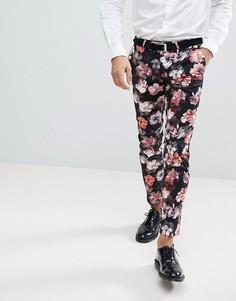 Супероблегающие брюки с полосками по бокам Noose & Monkey - Фиолетовый