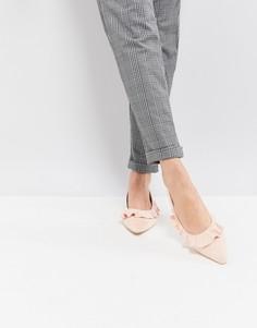 Розовые туфли на плоской подошве с острым носом Glamorous - Розовый