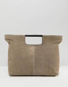 Замшевая сумка-шоппер ASOS - Серый
