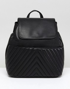 Стеганый мини-рюкзак ASOS - Черный