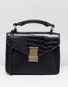 Сумка сэтчел с накладным карманом ASOS - Черный