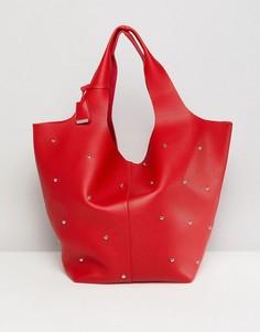 Красная сумка с отделкой заклепками Glamorous - Красный