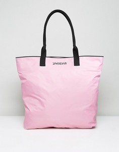 Нейлоновая сумка-шоппер 2nd Day - Розовый