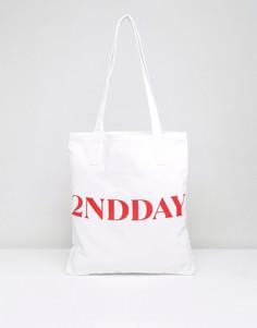 Парусиновая сумка-тоут 2nd Day Lover - Белый