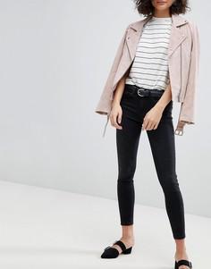 Укороченные джинсы Selected - Черный