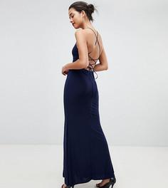 Платье макси с американской проймой и разрезом Outrageous Fortune - Темно-синий