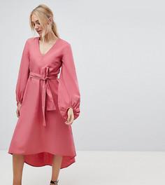 Платье миди с пышными рукавами Vero Moda Tall - Розовый