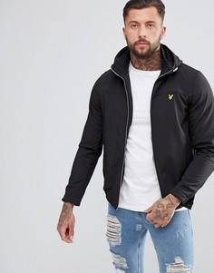 Черная мягкая куртка на молнии с высоким воротником и капюшоном Lyle & Scott - Черный