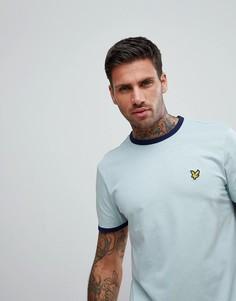 Голубая футболка Lyle & Scott - Синий